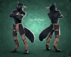 Character commission for Smokepaw