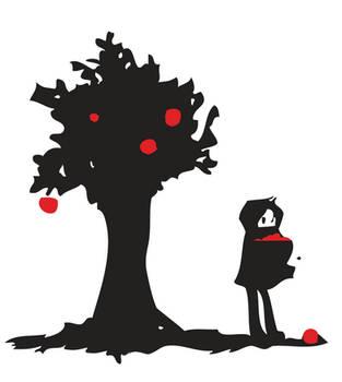 Fallen Apple -Silhouette by SUDDI