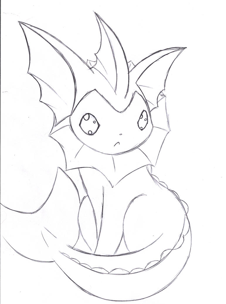 pokemon vaporeon coloring pages - photo#27