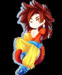 SSJ4 Goku Chibi