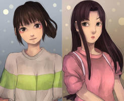 Chihiro and Lin by kavi-ar