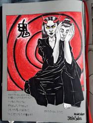 Inktober 2 Oni by yo-sociopath