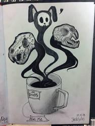 Coffee junkie by yo-sociopath