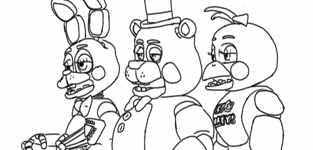 Full Page Freddy Fazbear Coloring Template