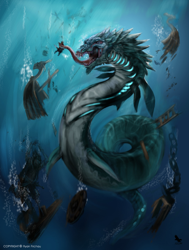 Leviathan by firecrow78 on deviantart for Merlion tattoo images