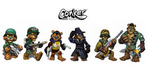 Conker characters by firecrow78