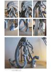 Medusa Progress wip details by firecrow78