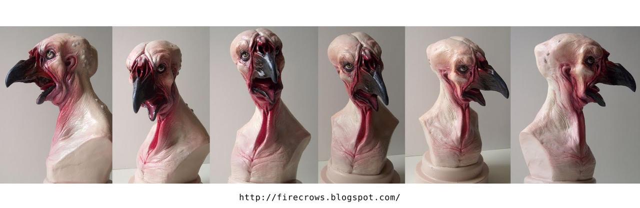 Bird man mutation Resin cast by firecrow78