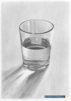 Glass of Water - Graphite Drawing