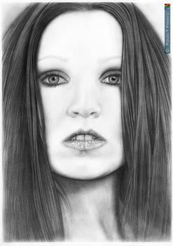 Tarja Turunen | Graphite drawing