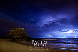 Porto Novo on a thunderstorm night