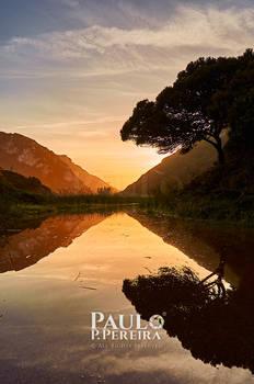 Glistening Sunset - Alcabrichel River