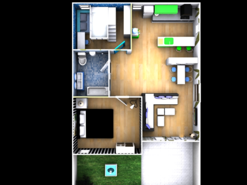 3d House Top View By Mayuki21 On Deviantart