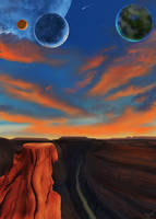 Planet Xenon: Garbandian Canyon by Davidroman30