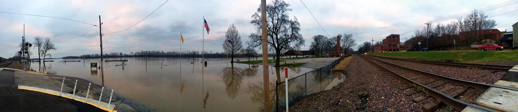 Washington Missouri Flood 2015 Panorama by Neko-Jake