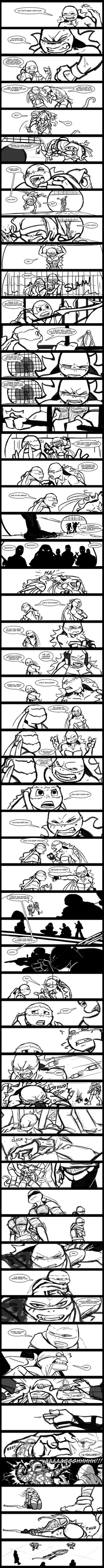 Rough/WiP- 'Life's Too Short' Song Comic Part 2/2 by R2ninjaturtle