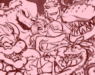 Monster Boyfriends by R2ninjaturtle