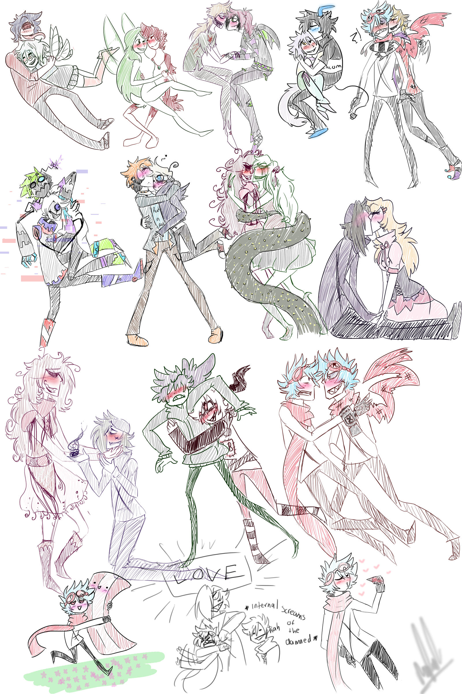 Pairing sketches by DrawerMich