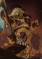 Grom Hellscream fanart by Rithinor