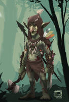 Forest Goblin concept by Rithinor