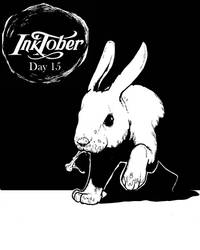 Inktober Day 15: Night of the Lepus by DecoNoir