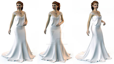 Sims 3 luxury bridal gown