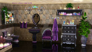 Lavender bathroom accessories sets