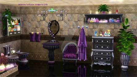 Lavender bathroom accessories sets