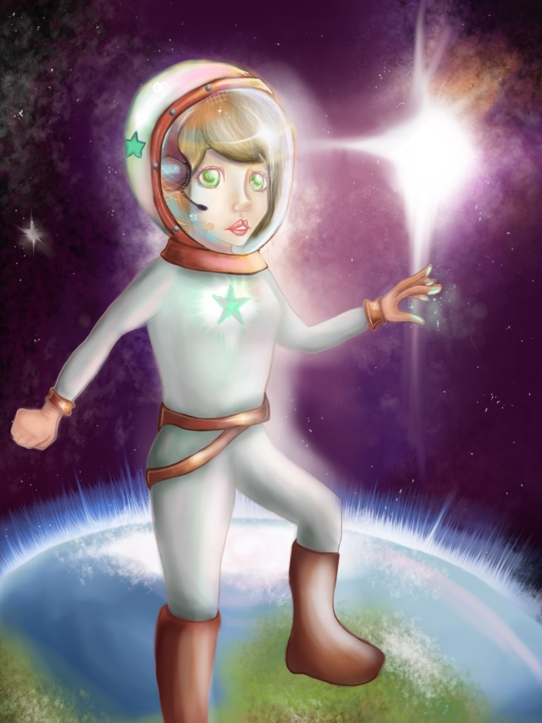 Space girl by Poppeelee