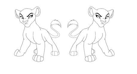Mirror Lioness Cub Base