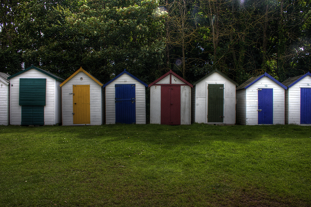 Beach huts. by jon3782001