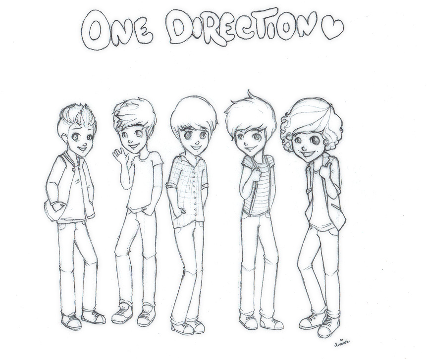 cartoon one direction coloring pages - photo#8