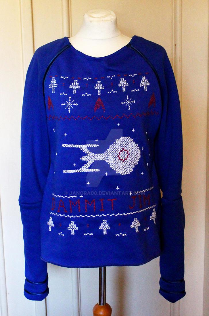 star trek christmas sweater by janora00