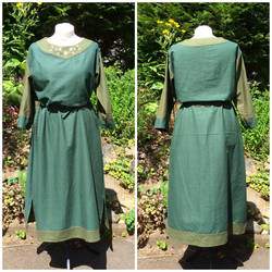 Green Linon Dress