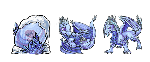 Eggcave Adoptable: Ice Dragon by Alkaline00