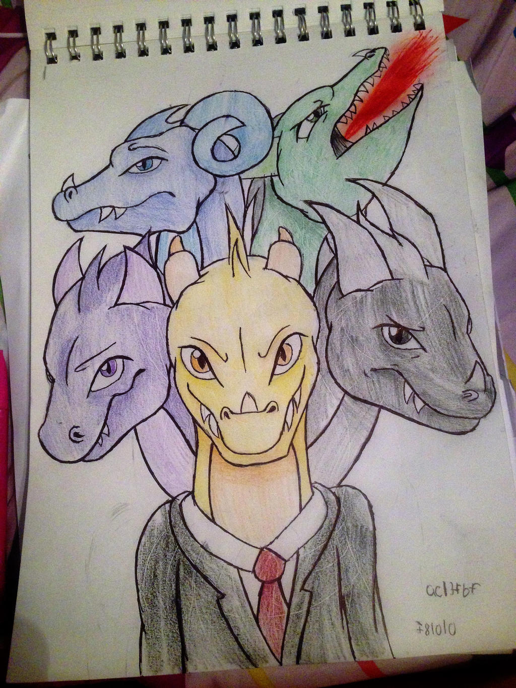 A Literal Five Headed Dragon. by Madrelle on DeviantArt - photo#19