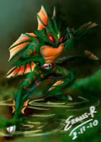 Kamen Rider Amazon Colored by Ervass-Reinhart