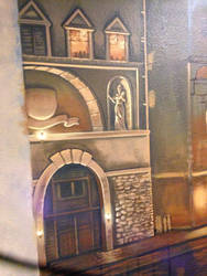 Mural close up- Venice at Night(work in process) by MichaelBeenenga