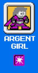 8-Bit Argent Girl by Kistulot