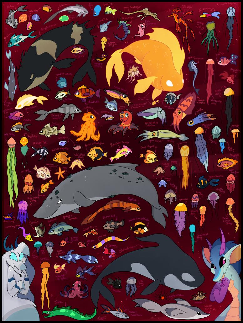 Enchanted Shores species by Roxalew