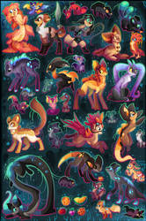 38 FREE Creature Adoptables CLOSED by Roxalew