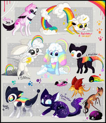FREE pride month adoptables- Closed by Roxalew