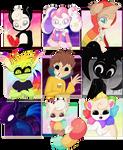 Cartoonatics characters by Roxalew