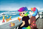 By the seaside by Roxalew