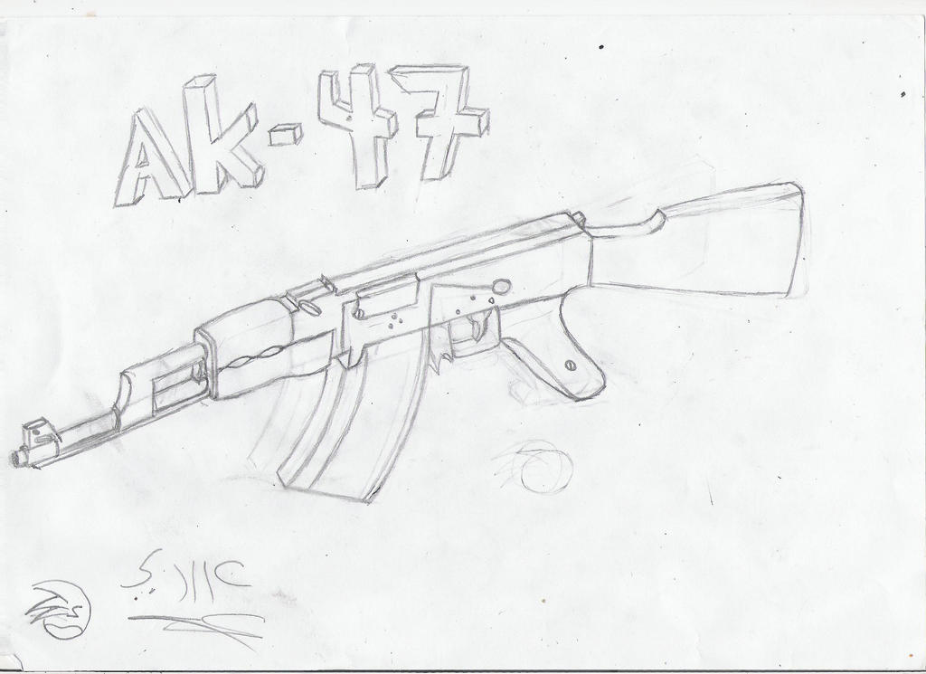 Pictures of Ak 47 Drawing 3d - #rock-cafe