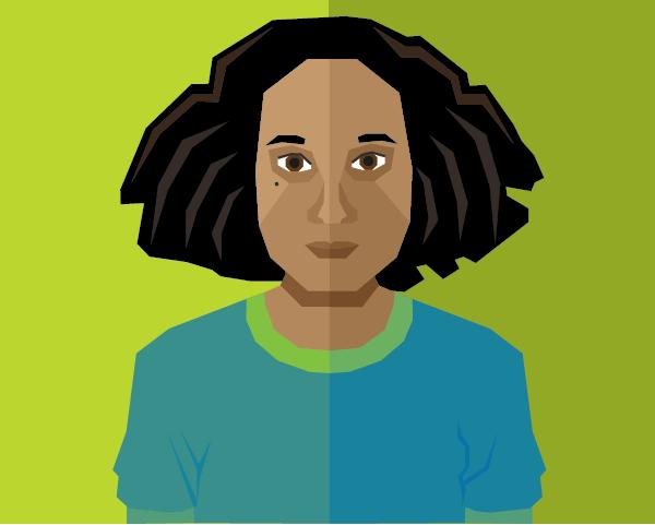Geometric Self Portrait by ChameleonCove