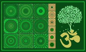 Green mandalas 25 200px