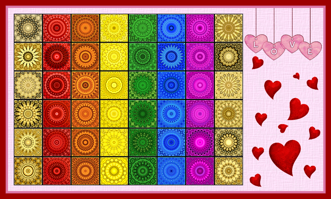 Mandala chart chakra colours by UnheiligeMarie