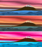 Volcano Panorama Strong Colors