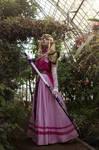 Zelda in her garden